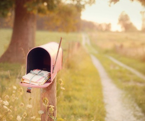 pink, mailbox, and letters image