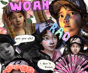 clementine, the walking dead, and twd image
