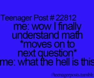 math, teenager post, and funny image