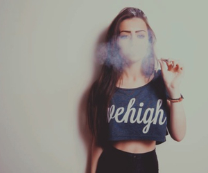 girl and smoke image