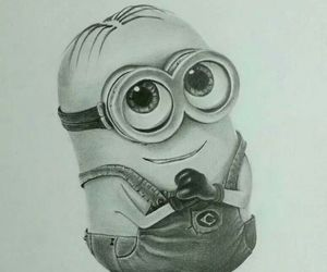 minions, drawing, and art image