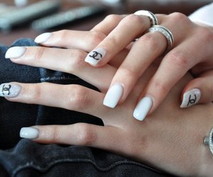 chanel, girly, and nails image