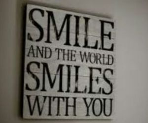 smile, quote, and happiness image