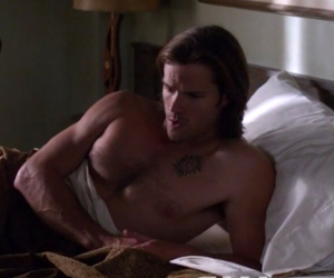 sam winchester, supernatural, and jared shirtless padalecki image