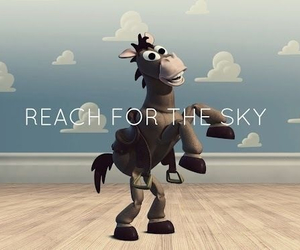 toy story, horse, and sky image