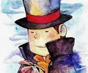 game, puzzle, and professor layton image