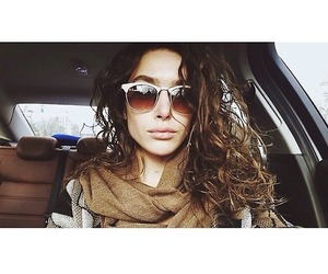 car, curly hair, and fashion image