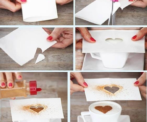 heart, diy, and coffee image