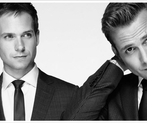 suit, harvey, and mike image