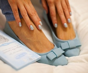 shoes, blue, and nails image