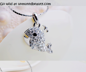 beautiful, whale, and necklace image