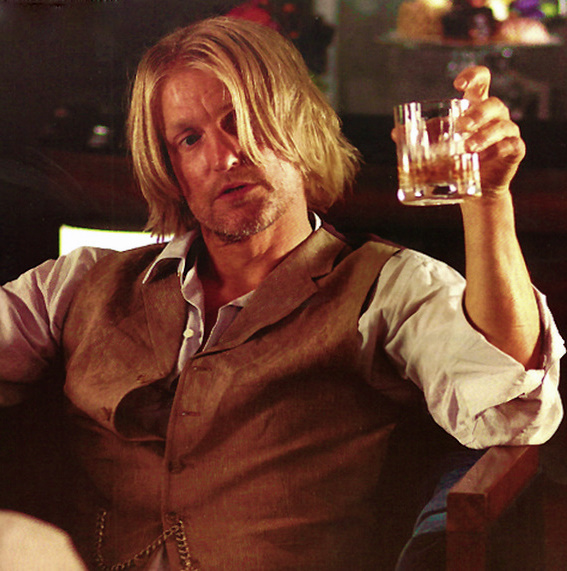 the hunger games, woody harrelson, and haymitch abernathy image