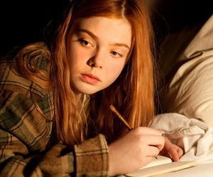 Elle Fanning and red hair image