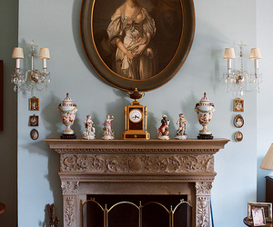 figurines and fireplace image