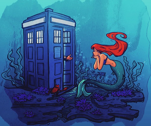 ariel, doctor who, and disney image