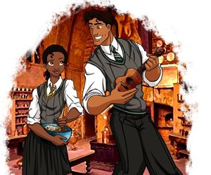 disney, tiana, and hogwarts image