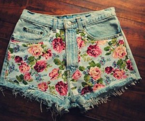 flowers, fashion, and shorts image
