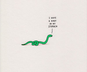snake, knot, and funny image