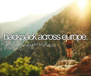 backpack, europe, and travel image