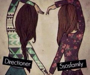 5sos, one direction, and directioner image