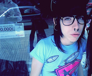 boy, glasses, and piercing image