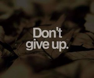 quotes, don't give up, and give image
