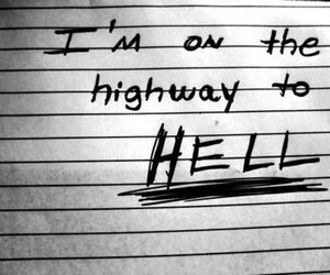 ACDC, highway to hell, and hell image