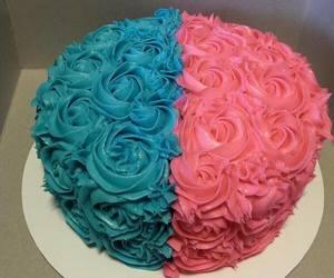 cake, pie, and blue image