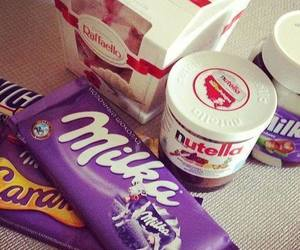 nutella, milka, and chocolate image