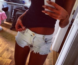 girl, iphone, and shorts image