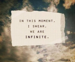 infinite, quotes, and the perks of being a wallflower image
