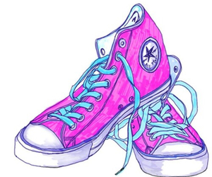 converse, pink, and transparent image