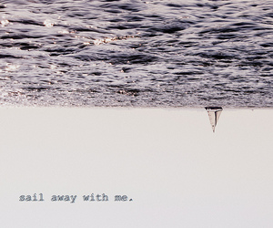 boat, sea, and text image
