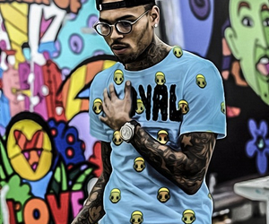 chris brown, breezy, and tattoo image