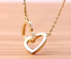 heart, chain, and gold image