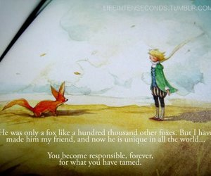 quote, little prince, and friends image