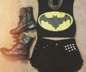batman, outfit, and black image