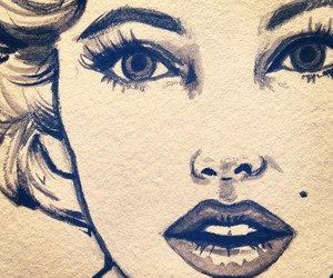 drawing and Marilyn Monroe image