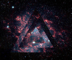 galaxy, triangle, and stars image
