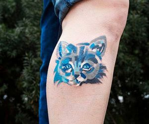 art, cat, and tattoo image