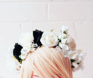 flowers and pastel goth image