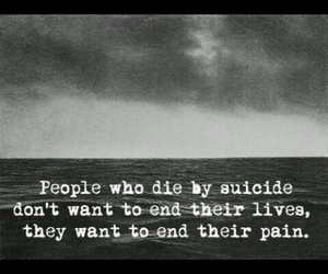 suicide, pain, and sad image