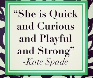 curious, fashion, and kate spade image