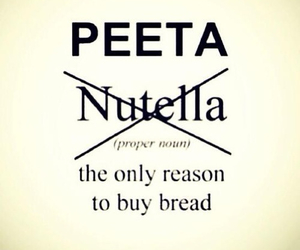 peeta, nutella, and hunger games image