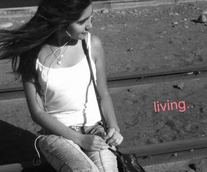 black and white, girl, and living image