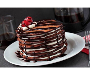 chocolate, food, and pancake image