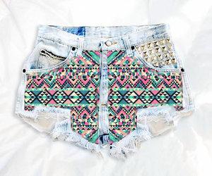 aztec, denim shorts, and festival image