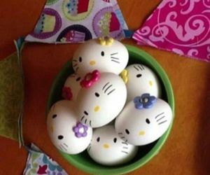 hello kitty and easter image