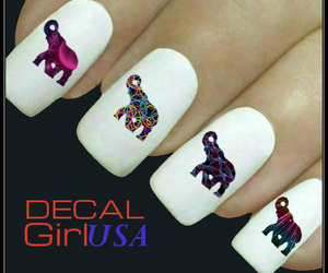 nail art, nail trends, and nail art decals image