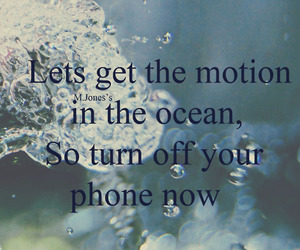 McFly, please please, and motion in the ocean image